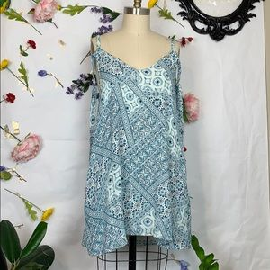 L Space patchwork boho mini dress